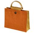 torba z juty pomarańczowa z bambusem