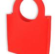 torebka filc czerwona