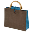 torba z juty z bambusem niebieska